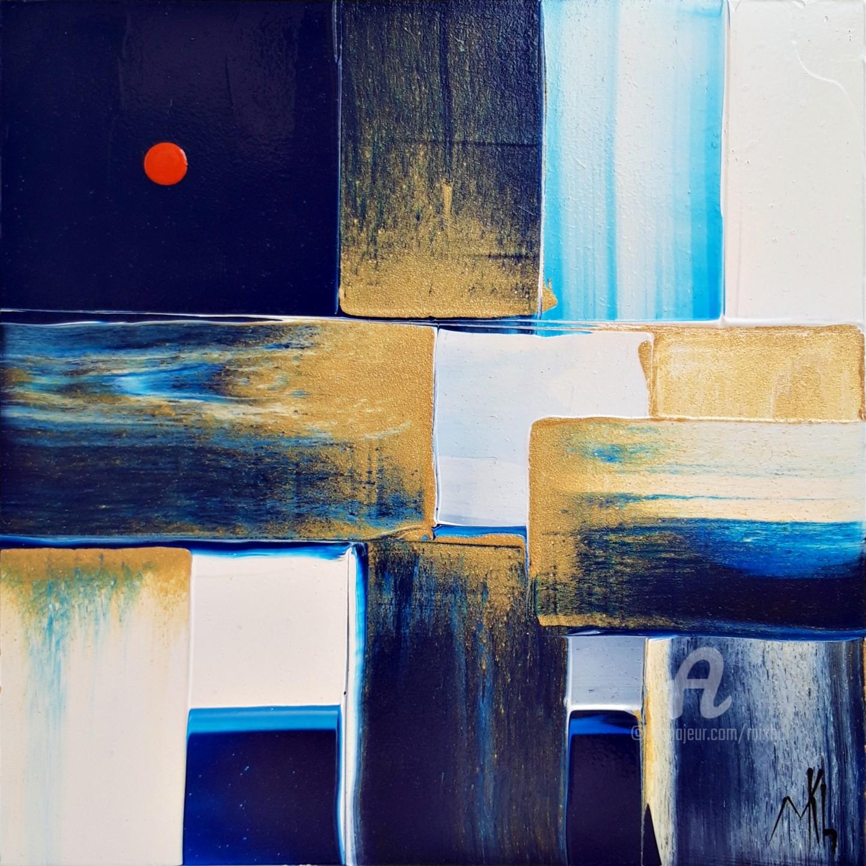 Mikha - Abstraction cubique #210016. Lune rousse