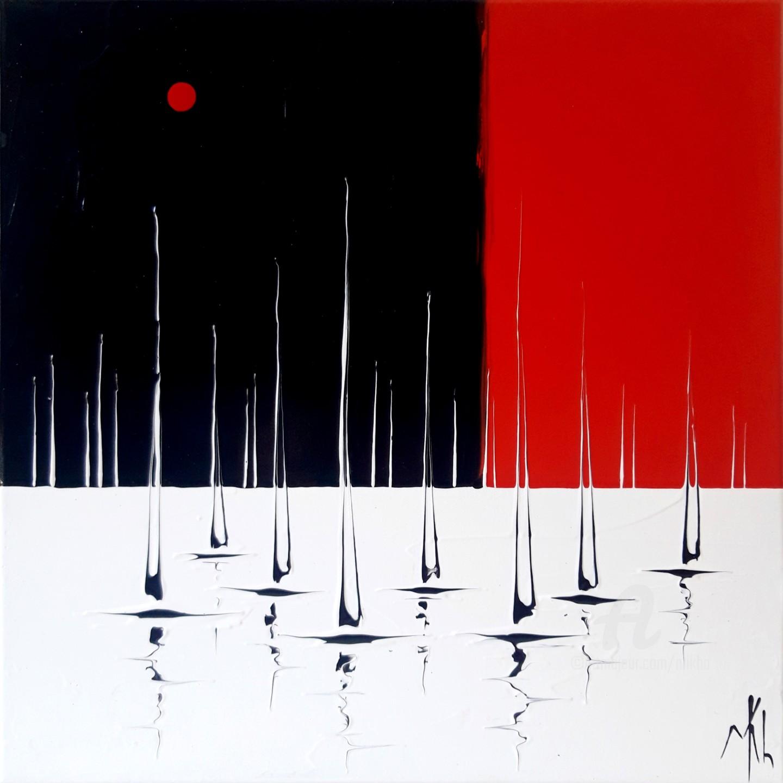 Mikha - Marine en rouge, noir et blanc