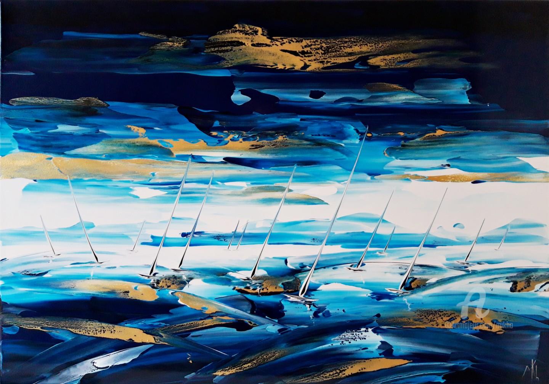 Mikha - Regatta in blue white and gold
